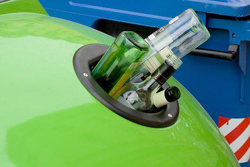 Trash, Recycling, Glass, Green, The Recycle Bin