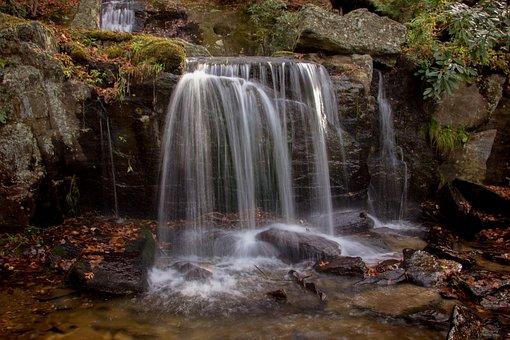 Waterfall, Water, Rocks, Nature, Outdoors, Cascade