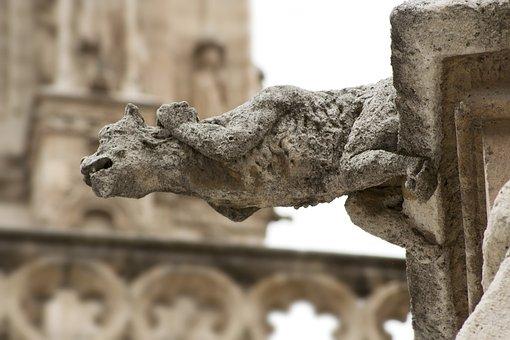 Gargoyle, Sculpture, Stone, Architecture, Statue