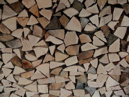 Wood, Firewood, Beech, Oak, Split, Stack, Stacked, Dry