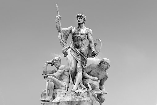 Statue, Stone, Marble, Man, Warrior, Roman, Antique