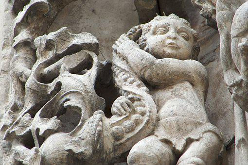 Gargoyle, Sculpture, Stone, Statue, Medieval, Figure