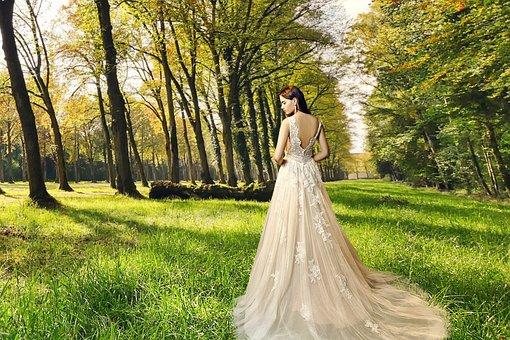 Gown, Lady, Bridal, Fashion, Victorian, Dress, Antique