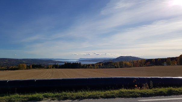 View, Utsikt, Brummunddal, Norge, Norway, Fall, Sky