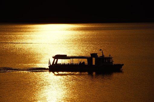 West, Lake, Solina, Ship, Water, Sky, Sea, Landscape