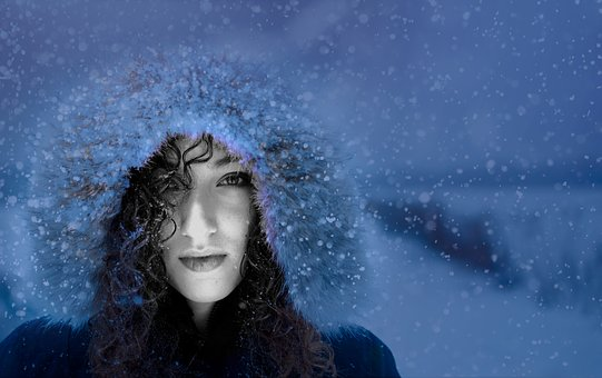 Woman, Snow, Winter, Cold, Young, Beauty, Person, Look