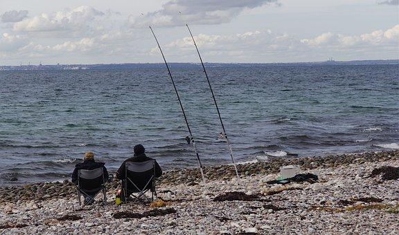 Angler, Sea, Baltic Sea, Denmark, Aahus, Coast, Boat