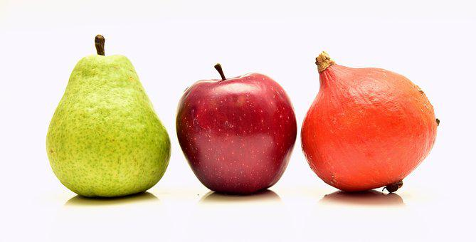 Fruit, Color, Colorful, Healthy, Pear, Apple, Pumpkin