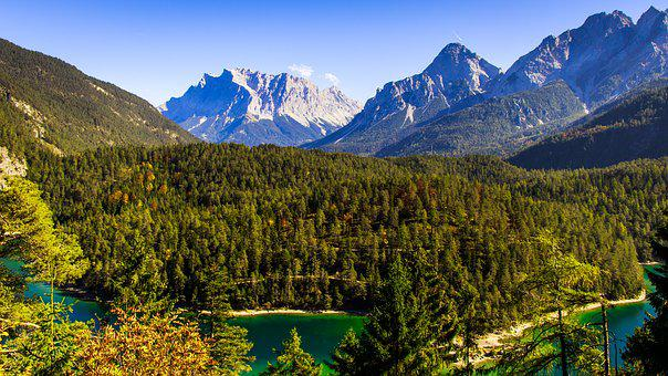 Zugspitze, Austria, Mountains, Distant View, Wilderness