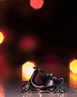 Bokeh, Scooter, Diwali, Background Pattern