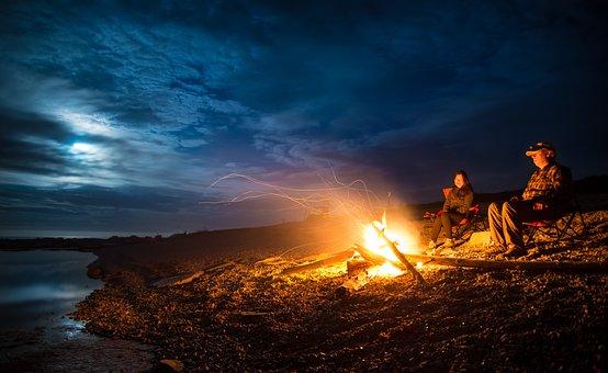 Blaze, Bonfire, Campfire, Canada, Clouds, Expedition
