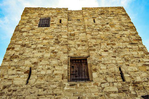 Wall, Windows, Cyprus, Alaminos, Tower, Architecture