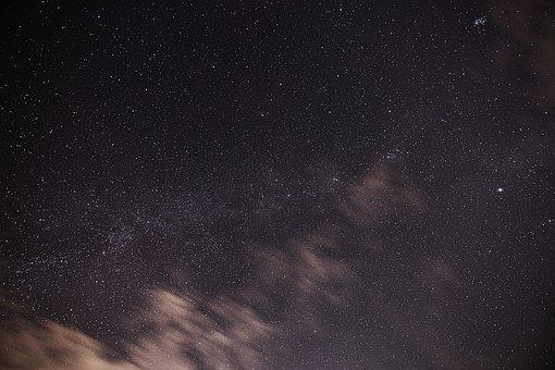Sky, Night, Star, Clouds, Dark, Universe, Starry Sky