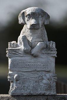 Dog, Garden, Stone Figure, Figure, Sculpture