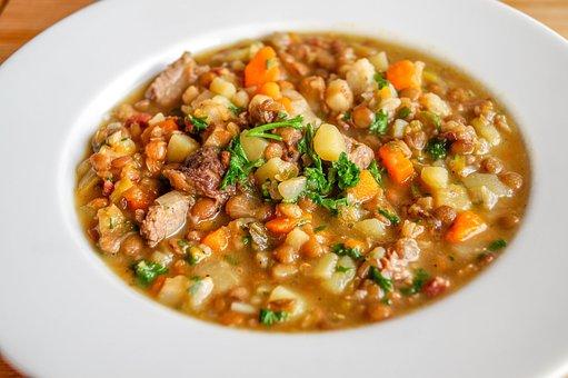 Lentil Soup, Lenses, Stew, Food, Carrots, Healthy