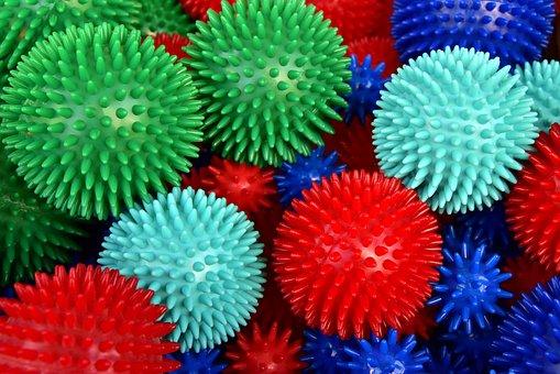 Massage Balls, Hedgehog Balls, Barbed Balls, Colorful