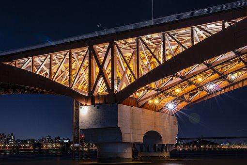 Seongsan Bridge, Seoul, Night View, Korea