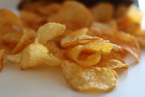 Chips, Crisps, Crunchy, Food, Snack, Pepper, Salt, Fat