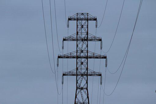 Pylon, Steel, Sky, Metal, Structure, Engineering