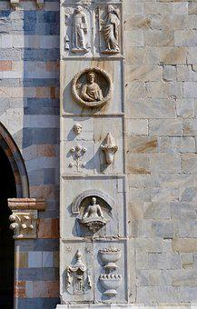 Cathedral Of Como, Cathedral, Relief, Church
