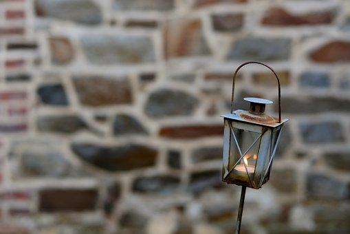 Lantern, Rusty, Lamp, Metal, Light, Iron, Weathered