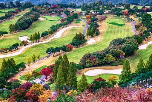 Autumn, Golf, Golf Course, Sport, Leisure, Scenery