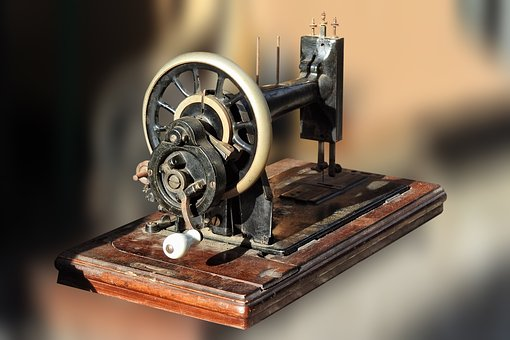 Sewing Machine, Old, Historically, Antique, Sew, Crank