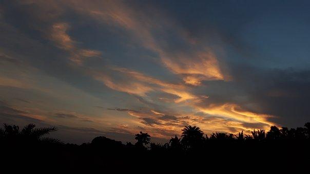 Clouds, Natural, Nature, Sky, Colourful Sky, Sun Set
