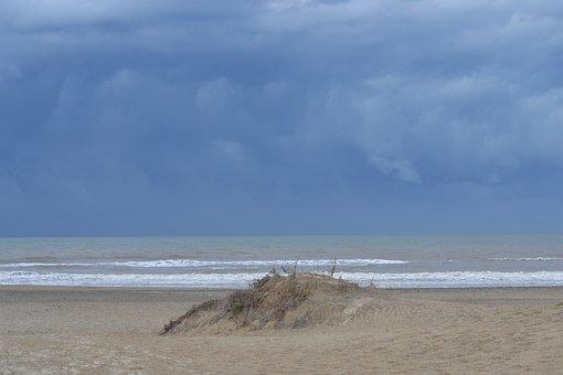 Sea, Storm, Ocean, Clouds, Landscape, Sky, Nature