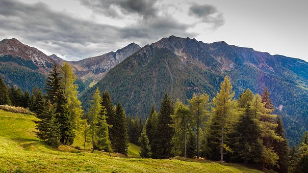South Tyrol, Austria, Mountains, Distant View