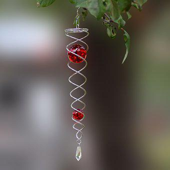 Christmas Decoration, Spiral With Glass Balls