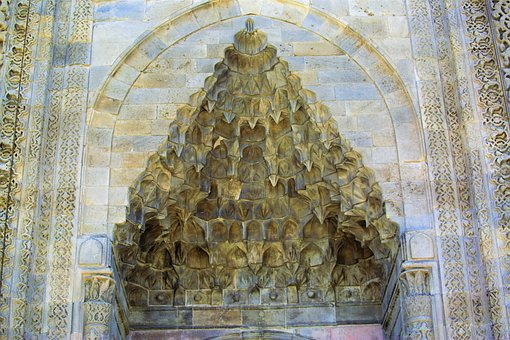 Art, Stonework, Stone Carving, Crown Door