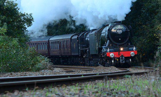Flying, Scotsman, Train, Railway, Engine