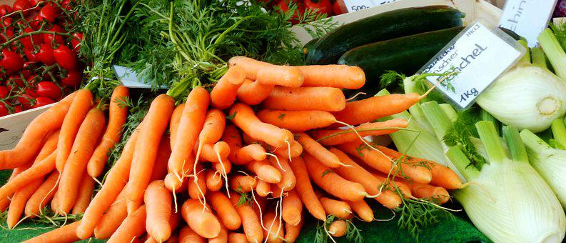 Carrots, Vegetables, Fresh, Vitaine, Healthy, Vitamins