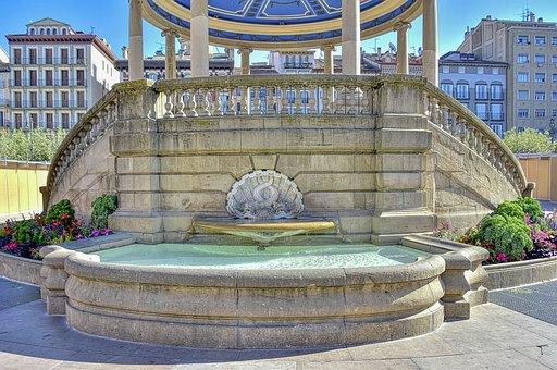 Source, Garden, Park, Architecture, Water