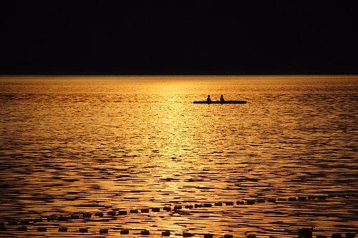 Kayak, Water, Swimming, Kayaks, Summer, Lake