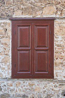 Door, Building, Old, Window, Wood, Wood-fibre Boards