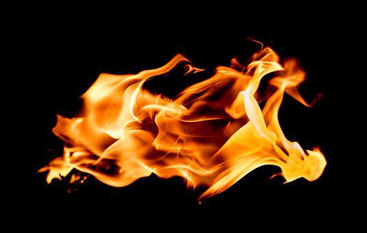 Fire, Black, Yellow, Hot, Flame, Burn, Lighter, Heat