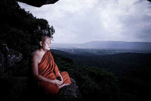 Monks, Meditation, นั, Buddhism