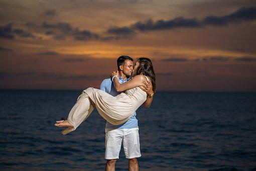 Couple, Romantic, Aruba, Travel, Kiss, Boy, Girl, Man