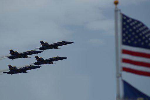 Blue Angels, Aviation, Navy, Aircraft, Sky, Airshow
