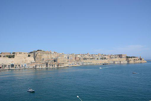 Malta, Island, Sea, Bay