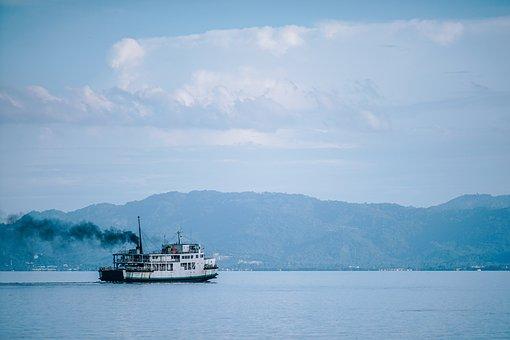Beach, Beautiful, Blue, Boat, Cruise, Day, Ferry
