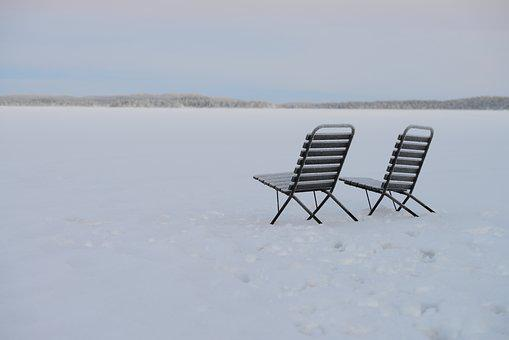 Winter, Snow, Chairs, White, Wintry, Snow Landscape