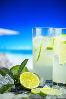 Beach, Beverage, Citrus, Closeup, Cold, Cold Drink