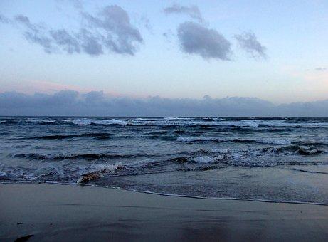 Sunset, Surf, Australia, Sea, Wave, Beach, Coast, Ocean