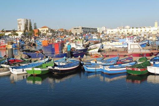 Port, Sea, Colour, Boats