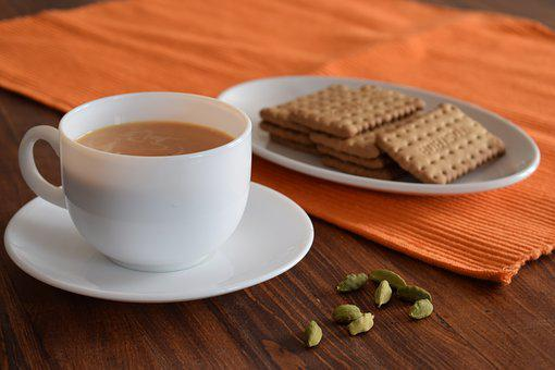 Tea, Biscuits, Cardamom, Cup, Coffee, Morning, Cookies