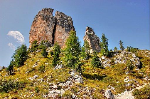 Cinque Torri, Dolomites, Italy, The Falzarego Pass
