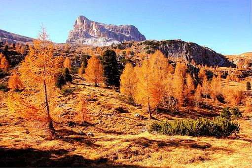 Falzarego, Dolomites, Italy, Mountain, Mountains